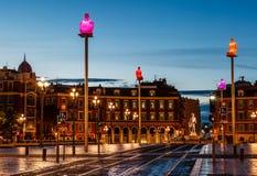 Τετράγωνο θέσεων Massena το πρωί, Νίκαια Στοκ φωτογραφία με δικαίωμα ελεύθερης χρήσης