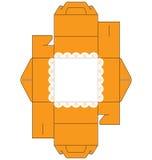 τετράγωνο κέικ κιβωτίων Στοκ Εικόνα