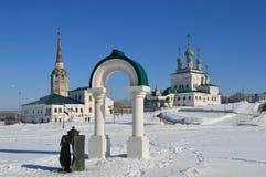Τετράγωνο καθεδρικών ναών σε Solikamsk Ρωσία Στοκ φωτογραφίες με δικαίωμα ελεύθερης χρήσης