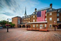 Τετράγωνο και Δημαρχείο αγοράς, στην παλαιά πόλη, Αλεξάνδρεια, Βιρτζίνια Στοκ φωτογραφία με δικαίωμα ελεύθερης χρήσης