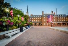 Τετράγωνο και Δημαρχείο αγοράς, στην παλαιά πόλη, Αλεξάνδρεια, Βιρτζίνια Στοκ εικόνα με δικαίωμα ελεύθερης χρήσης