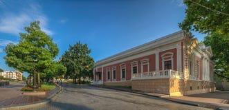 Τετράγωνο κοντά στην αίθουσα πόλεων της Οδησσός Στοκ φωτογραφία με δικαίωμα ελεύθερης χρήσης