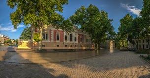 Τετράγωνο κοντά στην αίθουσα πόλεων της Οδησσός Στοκ φωτογραφίες με δικαίωμα ελεύθερης χρήσης