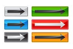 τετράγωνο κουμπιών βελών ελεύθερη απεικόνιση δικαιώματος
