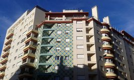 Τετράγωνο κύκλων οικοδόμησης σχεδίων της Λισσαβώνας Στοκ Φωτογραφίες