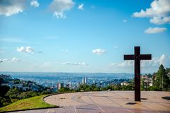 Τετράγωνο μπαμπάδων στη Βραζιλία στοκ εικόνα με δικαίωμα ελεύθερης χρήσης