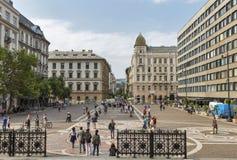 Τετράγωνο μπροστά από τη βασιλική του ST Stephen Βουδαπέστη, Ουγγαρία Στοκ εικόνες με δικαίωμα ελεύθερης χρήσης