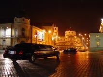 τετράγωνο νύχτας Στοκ φωτογραφία με δικαίωμα ελεύθερης χρήσης