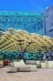 Τετράγωνο ομοσπονδίας στην πόλη της Μελβούρνης cetre Στοκ Εικόνες