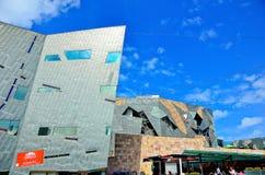 Τετράγωνο ομοσπονδίας στην πόλη της Μελβούρνης cetre Στοκ φωτογραφίες με δικαίωμα ελεύθερης χρήσης
