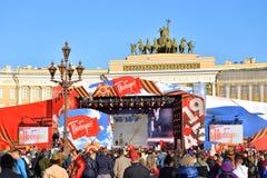 Τετράγωνο παλατιών την ημέρα νίκης στοκ φωτογραφία με δικαίωμα ελεύθερης χρήσης