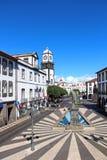 Τετράγωνο πόλεων (Praca do Municipio), Ponta Delgada, Αζόρες, Πορτογαλία Στοκ Εικόνες