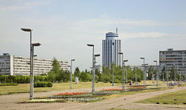 Τετράγωνο σε Naberezhnye Chelny Ρωσία Στοκ φωτογραφία με δικαίωμα ελεύθερης χρήσης