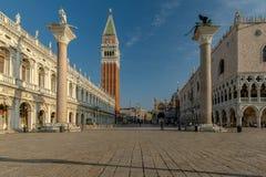 Τετράγωνο σημαδιών του ST στη Βενετία στοκ φωτογραφίες