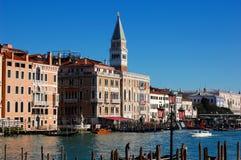 Τετράγωνο σημαδιών του ST από το μεγάλο κανάλι, Βενετία, Ιταλία Στοκ Εικόνες