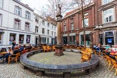Τετράγωνο στην παλαιά πόλη του Μάαστριχτ, Κάτω Χώρες στοκ εικόνες με δικαίωμα ελεύθερης χρήσης