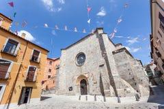 Τετράγωνο στην παλαιά πόλη Avila, Ισπανία Στοκ Εικόνες