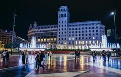 Τετράγωνο στη Βαρκελώνη Στοκ φωτογραφίες με δικαίωμα ελεύθερης χρήσης