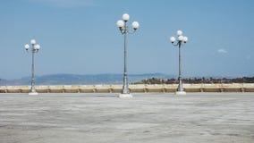 Τετράγωνο στο aka Casteddu τετάρτων Castello στο Κάλιαρι, Ιταλία στοκ εικόνες με δικαίωμα ελεύθερης χρήσης