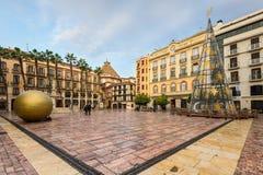 Τετράγωνο συνταγμάτων της Μάλαγας, Ισπανία Στοκ Φωτογραφίες