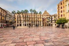 Τετράγωνο συνταγμάτων της Μάλαγας, Ισπανία Στοκ φωτογραφία με δικαίωμα ελεύθερης χρήσης
