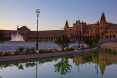 Τετράγωνο της Ισπανίας, Σεβίλη, Ισπανία Στοκ Φωτογραφία