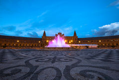 Τετράγωνο της Ισπανίας Σεβίλη Στοκ εικόνα με δικαίωμα ελεύθερης χρήσης