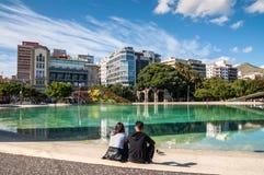 Τετράγωνο της Ισπανίας στην πόλη Santa Cruz de Tenerife, Κανάρια νησιά, Στοκ φωτογραφία με δικαίωμα ελεύθερης χρήσης