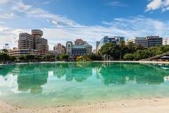 Τετράγωνο της λίμνης της Ισπανίας στην πόλη Santa Cruz de Tenerife, isla καναρινιών Στοκ φωτογραφία με δικαίωμα ελεύθερης χρήσης