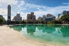 Τετράγωνο της λίμνης της Ισπανίας στην πόλη Santa Cruz de Tenerife, isla καναρινιών Στοκ εικόνα με δικαίωμα ελεύθερης χρήσης
