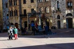 Τετράγωνο της Τοσκάνης, της Ιταλίας και των ανθρώπων Στοκ φωτογραφία με δικαίωμα ελεύθερης χρήσης