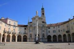 Τετράγωνο της Annunziata σε Venaria Reale, Ιταλία στοκ φωτογραφίες