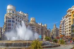 Τετράγωνο του Δημαρχείου, Βαλένθια, Ισπανία Στοκ εικόνες με δικαίωμα ελεύθερης χρήσης