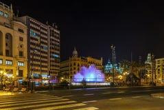 Τετράγωνο του Δημαρχείου, Βαλένθια, Ισπανία Στοκ Εικόνα