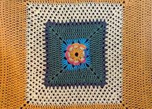 Τετράγωνο του πλεγμένου grandma σχεδίων στοκ φωτογραφία με δικαίωμα ελεύθερης χρήσης