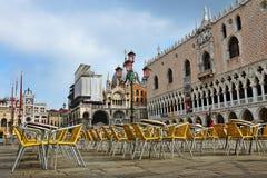 Τετράγωνο του σημαδιού του ST στη Βενετία, Ιταλία Στοκ Φωτογραφίες