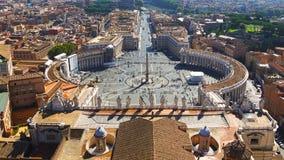 Τετράγωνο του ST Peter στο Βατικανό, Ρώμη, Ιταλία Στοκ φωτογραφίες με δικαίωμα ελεύθερης χρήσης