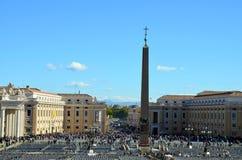 Τετράγωνο του ST Peter ` s, πόλη του Βατικανού στοκ φωτογραφία
