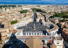 Τετράγωνο του ST Peter ` s, πόλη του Βατικανού, Ρώμη Στοκ Εικόνες