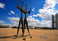 Τετράγωνο των τριών goias Βραζιλία της Μπραζίλια δυνάμεων Στοκ Εικόνα