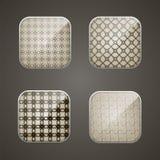 Τετράγωνο υποβάθρου για app Στοκ Εικόνες