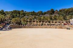 Τετράγωνο φύσης - πάρκο Guell, Βαρκελώνη, Ισπανία Στοκ Εικόνες