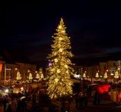 Τετράγωνο Χριστουγέννων σε Banska Bystrica Στοκ Εικόνες