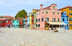 Τετράγωνο χρώματος burano της Βενετίας Στοκ εικόνα με δικαίωμα ελεύθερης χρήσης