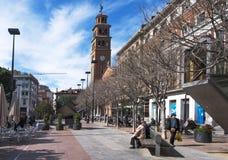 Τετράγωνο Ajuntament σε Hospitalet, Ισπανία Στοκ Φωτογραφία