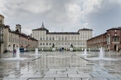 Τετράγωνο Castello, Τορίνο, Ιταλία Στοκ Εικόνα