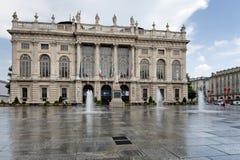 Τετράγωνο Castello, Τορίνο, Ιταλία Στοκ εικόνα με δικαίωμα ελεύθερης χρήσης