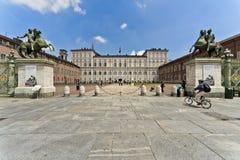 Τετράγωνο Castello, Τορίνο, Ιταλία Στοκ εικόνες με δικαίωμα ελεύθερης χρήσης
