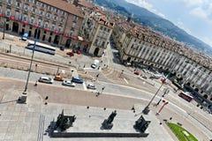 Τετράγωνο Castello, Τορίνο, Ιταλία Στοκ Φωτογραφίες