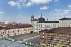 Τετράγωνο Castello, Τορίνο, Ιταλία Στοκ φωτογραφία με δικαίωμα ελεύθερης χρήσης